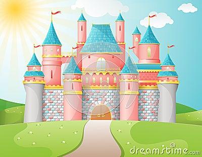 FairyTale castle illustration. Vector Illustration