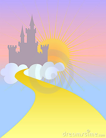 Free Fairytale Castle In The Sky/eps Stock Photo - 8065480