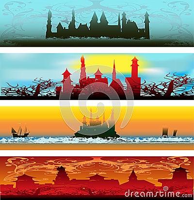 Fairytale Castle Web Banners