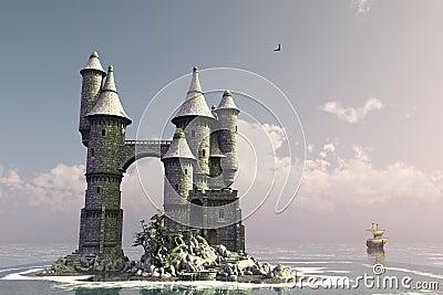 Fairytale island castle