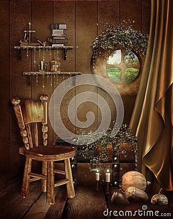 Fairytale room with a window