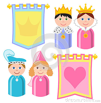Fairytale Royal Family Banners/eps