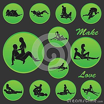 faites la position d 39 amour illustration de vecteur image 39549719. Black Bedroom Furniture Sets. Home Design Ideas