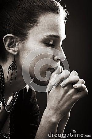 Free Faith And Religion - Prayer Of Woman Royalty Free Stock Photos - 18739688