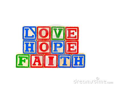 Faith, Hope, Love Letter Blocks Horizontal 1
