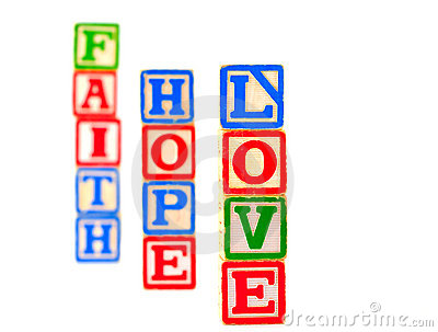 Faith, Hope, Love Letter Blocks Vertical 1