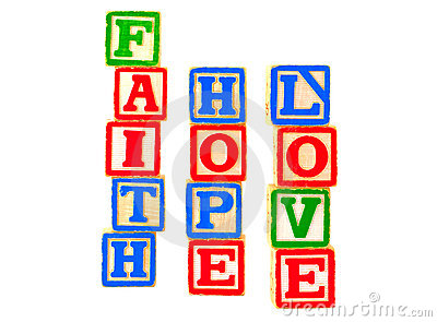 Faith, Hope, Love Letter Blocks Vertical 2