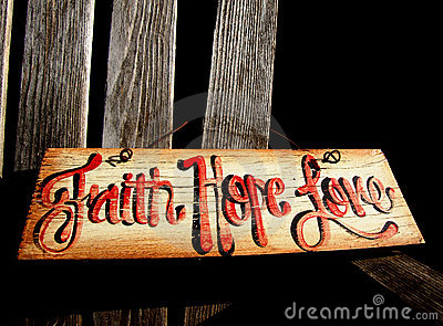 Faith, Hope Love Sign