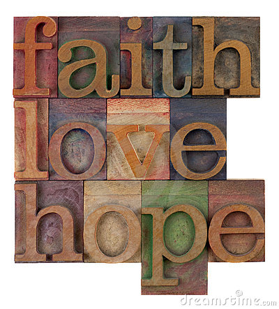 Faith, love and hope