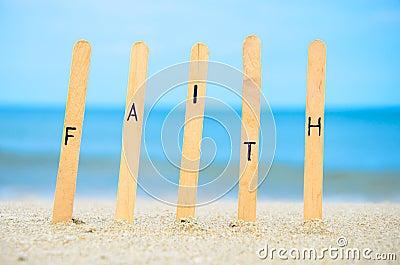 Faith in the sand.