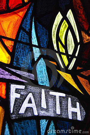 Faith stained glass