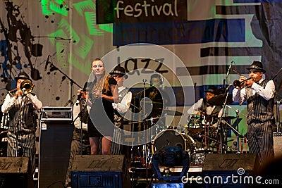 Faixa dos irmãos de Dixie da faixa de jazz Imagem de Stock Editorial