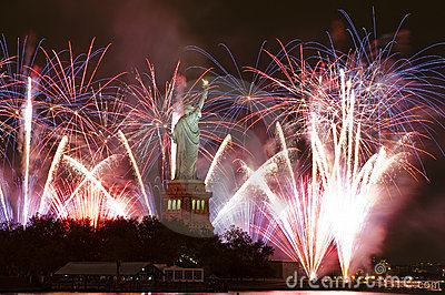 Fajerwerków swobody statua