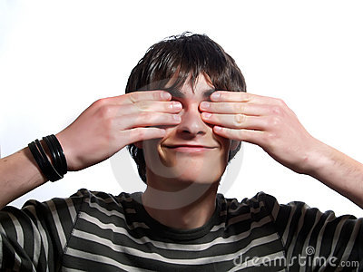 Fake blindness