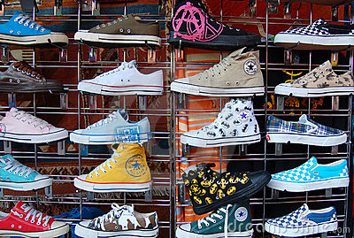 Fake Converse For Sale Editorial Stock Photo