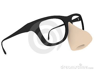 Fake glasses isolated