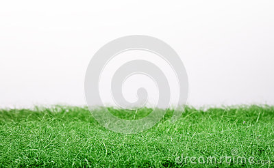 Fake green grass panorama