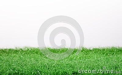 Fake green grass panorama