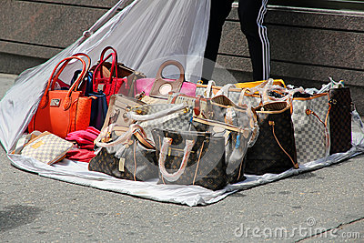 Fake Handbags Editorial Stock Photo