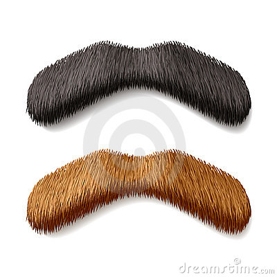 Fake mustaches