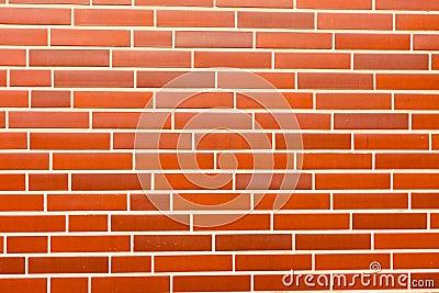 Fake red brick wall siding