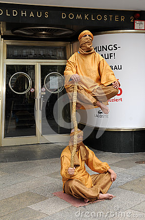 Fakir living statues Editorial Photo