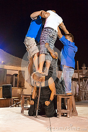 Fakir show in Egypt Editorial Stock Photo