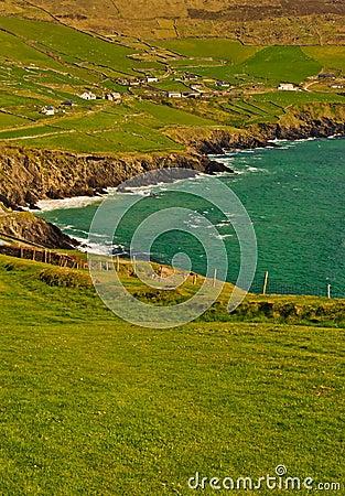 Falaises sur la péninsule de Dingle, Irlande