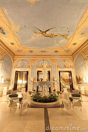 Falaknuma Palace front entrance room, Hyderabad Editorial Photo