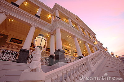 Falaknuma Palace at sun down