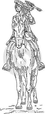 Falconer on horse