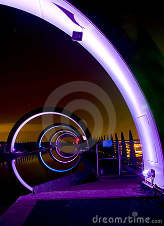 Falkirk Wheel At Night Royalty Free Stock Photography - Image: 12976237