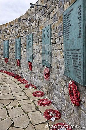 Falklands War Memorial - Falkland Islands Editorial Photo