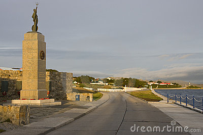 The Falklands War Memorial in Stanley