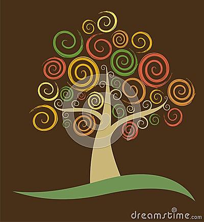 Fall Abstract Tree