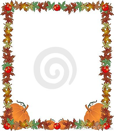Fall border frame illustration