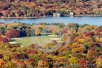 Fall colors by the Great Lawn and the Reservoir, C