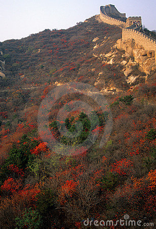 Fall colors, Great Wall of China,