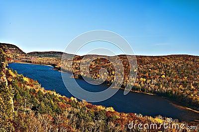 Fall Colors, Mountain Lake, Michigan