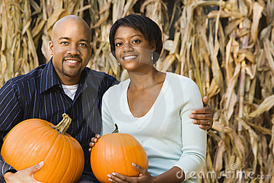 Fall couple portrait.