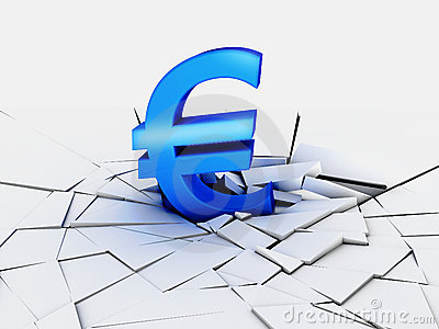 Fall euro currency