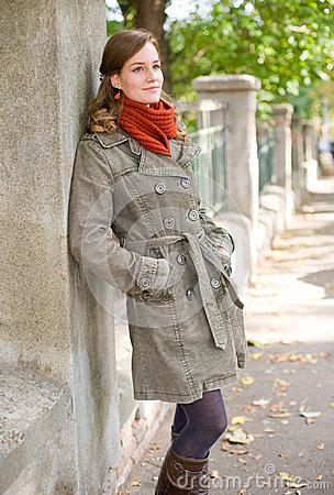 Fall fashion girl.