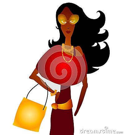 Fall Fashion Woman Shopping