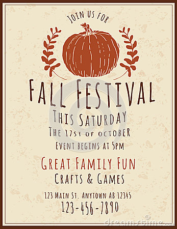 Fall Festival Flyer Template Stock Vector - Image: 59895089