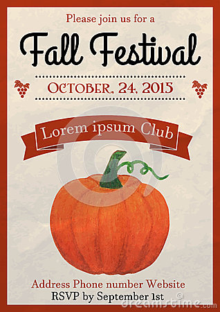Fall Festival Flyer Template Stock Vector - Image: 59895089