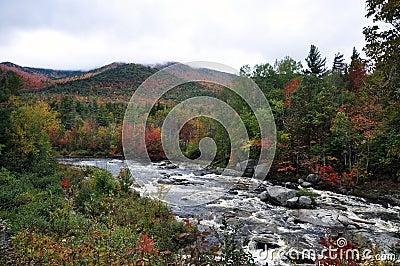 Fall Foliage in Adirondack Mountains