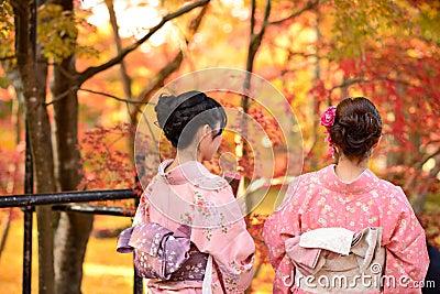 Fall Foliage in Kyoto Editorial Photo