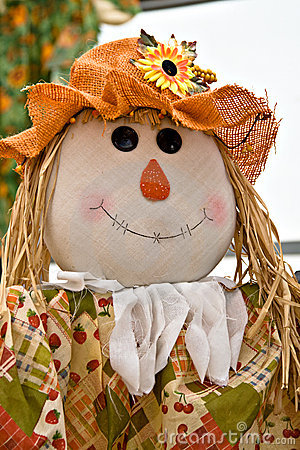 Free Fall Halloween Scarecrow Royalty Free Stock Photos - 6702668