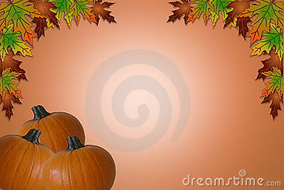 Fall Halloween Thanksgiving Border