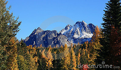 Fall in the High Tatras Mountains